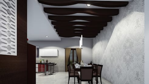 Pritam Mali, Karad: asian Dining room by Cfolios Design And Construction Solutions Pvt Ltd