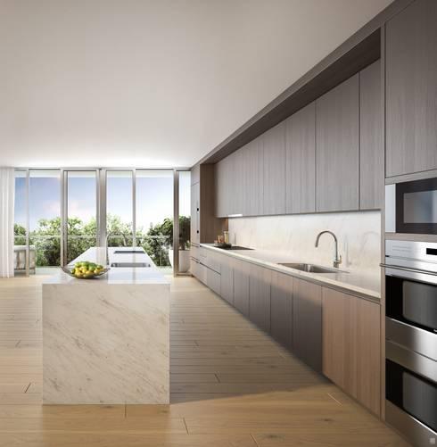 EDEN RESIDENCES: Cocinas de estilo moderno por C | C INTERIOR ARCHITECTURE
