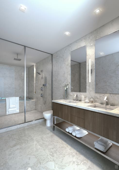 EDEN RESIDENCES: Baños de estilo moderno por C | C INTERIOR ARCHITECTURE