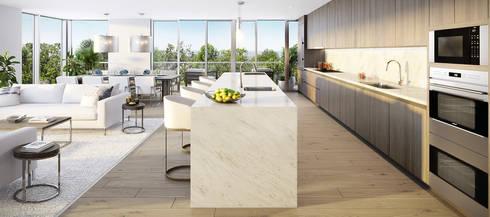 EDEN RESIDENCES: Salas de estilo moderno por C | C INTERIOR ARCHITECTURE