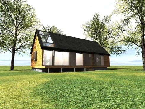Fachada patio interior: Casas de estilo rural por casa rural