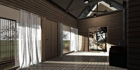 Interior casa modular: Pasillos y hall de entrada de estilo  por casa rural