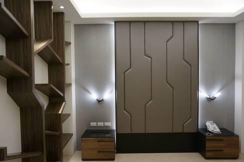 現代人文 中式寫意:  臥室 by 沐築空間設計