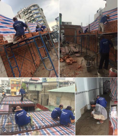 Cận Cảnh Ngôi Nhà Phố 3 Tầng Thoáng Đãng Ở Quận Bình Tân:  Nhà by Công ty TNHH Xây Dựng TM – DV Song Phát