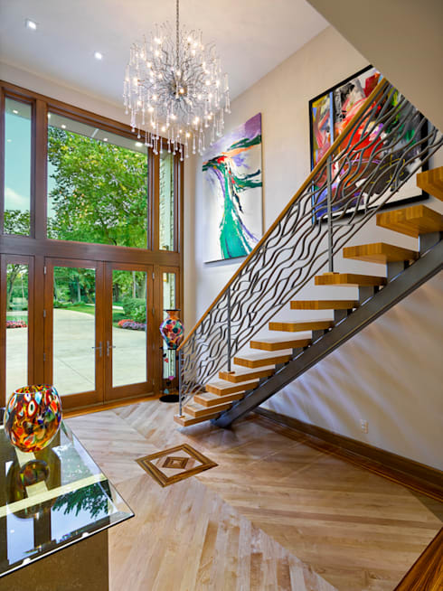 Contemporary Remodel:  Stairs by KAS