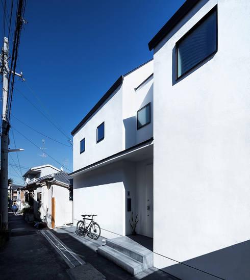 北面の外観: 株式会社seki.designが手掛けた家です。
