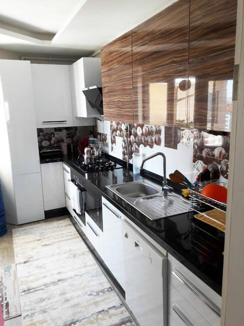LIA Mimarlik İcmimarlik – Özkan Evi Konut İç Mekan Tasarımı:  tarz Mutfak