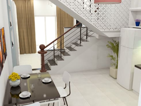 Xây nhà 2 tầng thiết kế 3 phòng ngủ rộng thoáng chỉ với 680 triệu:  Phòng ăn by Công ty TNHH Xây Dựng TM – DV Song Phát