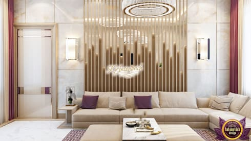 ​Fashionable design 2018 by Katrina Antonovich: modern Living room by Luxury Antonovich Design