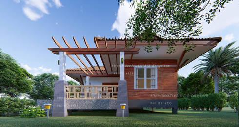 แบบบ้าน2ห้องนอน 1ห้องน้ำ 86ตร.ม.:   by fewdavid3d-design