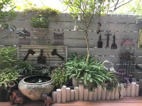 小陽台規劃:   by 大地工房景觀公司