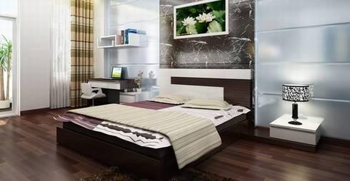 Phòng ngủ của bộ mẹ thiết kế tiện nghi:  Phòng ngủ by Công ty TNHH Thiết Kế Xây Dựng Song Phát