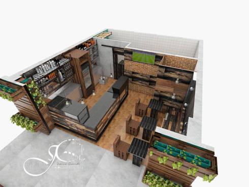 Perspectiva: Restaurantes de estilo  por MAHO arquitectura y diseño, C.A
