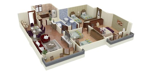 3D plan:   تنفيذ Touch-studios