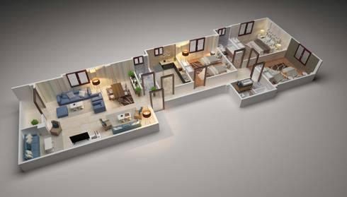 3D plans:   تنفيذ Touch-studios