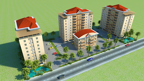 3D Rendering of Commercial building:  Commercial Spaces by 3D Rendering India