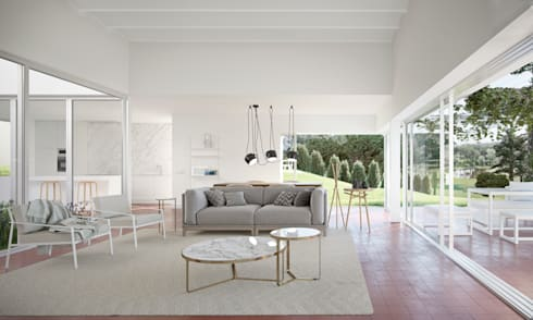modern Living room by Graph Arquitectura