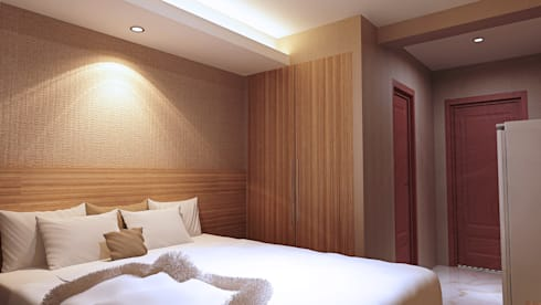 Kamuflase Wardrobe: modern Bedroom by Pro Global Interior