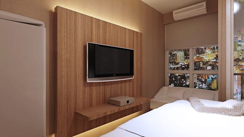 Panel TV: modern Bedroom by Pro Global Interior