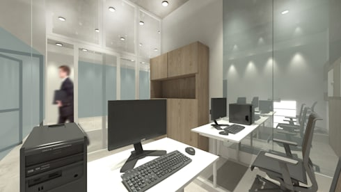office by design. Office Area: Ruang Kerja By ARAT Design