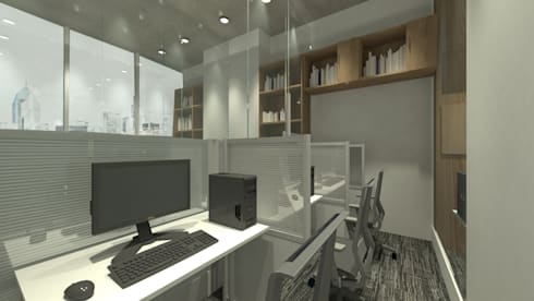 Cubicle Room:  Ruang Kerja by ARAT Design