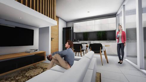 Living Room A:  Ruang Keluarga by ARAT Design