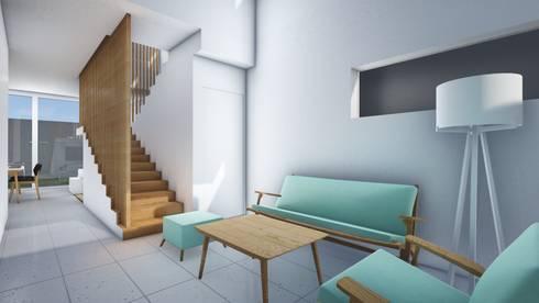 Living Room B:  Ruang Keluarga by ARAT Design