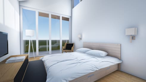 Bed Room B:  Kamar Tidur by ARAT Design