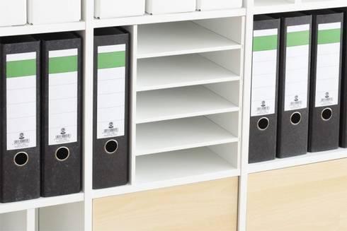 Arbeitszimmer ikea expedit  VIERFACH - DIN A4-Fach für Ikea Kallax Regal von NSD New Swedish ...