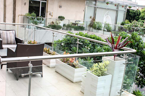 Terrace Garden Decor at Civil Lines, Delhi:   by Grecor