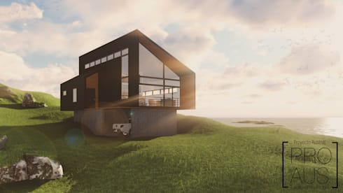CASA MIRADOR: Casas de estilo moderno por Pro Aus Arquitectos
