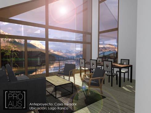 CASA MIRADOR: Livings de estilo minimalista por Pro Aus Arquitectos