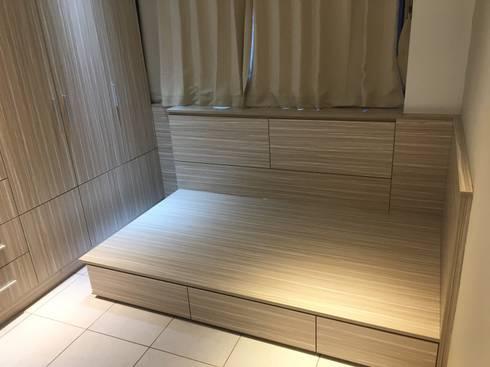 預算有限別擔心 舊屋翻新大空間:  臥室 by 捷士空間設計