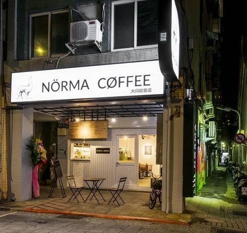 諾馬連鎖咖啡店 哈密店:  房子 by 捷士空間設計