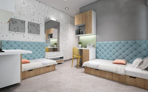 kids bedroom:  Girls Bedroom by Neelanjan Gupto Design Co