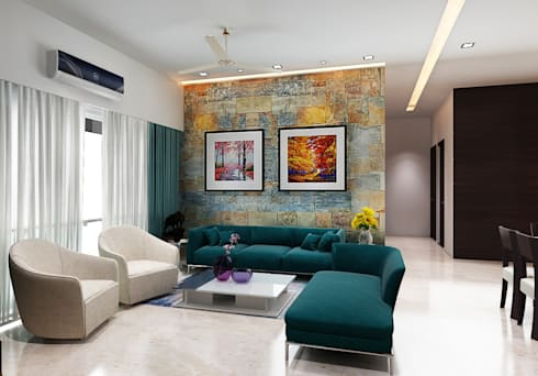 Subramaniam krishnan: modern Living room by Neelanjan Gupto Design Co