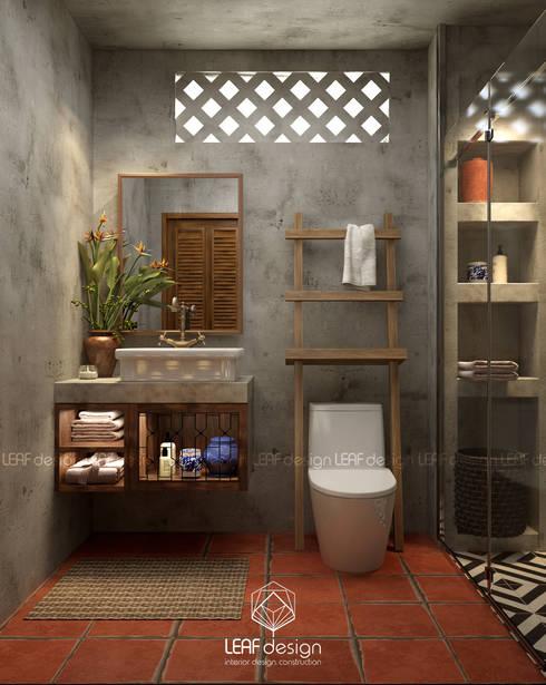 Cảm xúc Á Đông - Nhà phố Sài Gòn:  Phòng tắm by LEAF Design