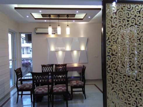 Residential project : modern Dining room by Florence Management Services