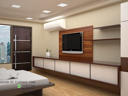 TV unit : modern Bedroom by Florence Management Services
