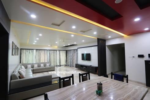 Living room interior design: modern Living room by Designaddict