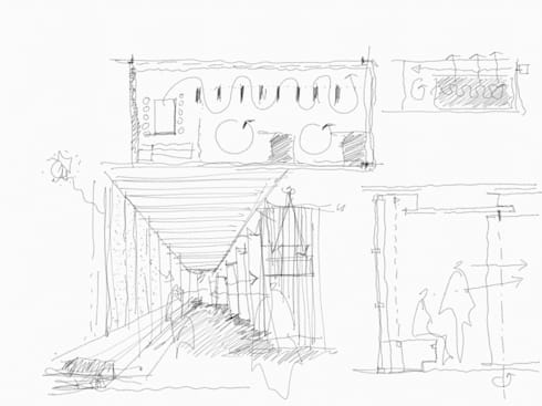 Gallery concept sketches :   by Nomad Office Architects 覓 見 建 築 設 計 工 作 室
