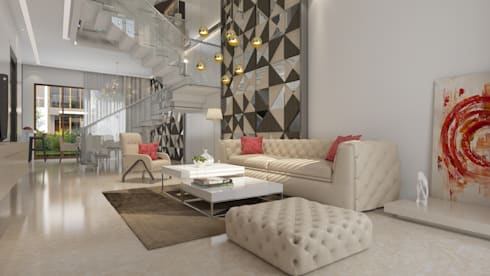 Living room : modern Living room by NVT Quality Build solution