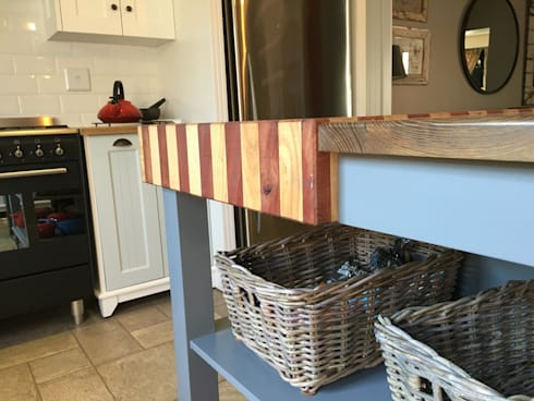 Butcher block details: country Kitchen by Nick and Nelly Kitchens
