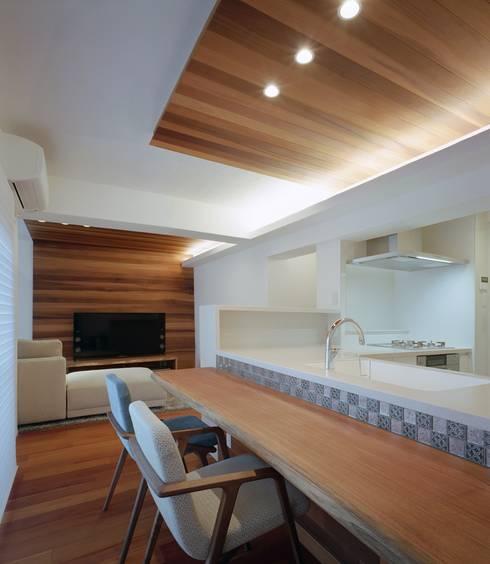 甲子園口の家(リノベーション): 株式会社西田順紀アトリエが手掛けたダイニングです。