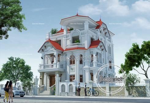 Phối cảnh mẫu biệt thự Cổ điển Pháp 3.5 tầng BT16019.:   by Công Ty CP Kiến Trúc và Xây Dựng Betaviet