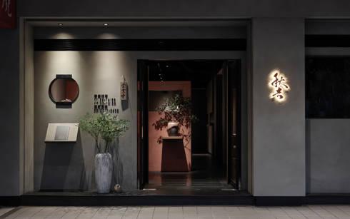門面:  餐廳 by 樸十設計有限公司 SIMPURE Design