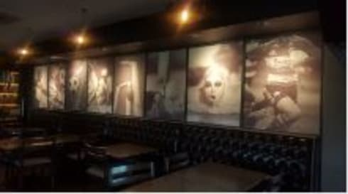 Sports Bar:  Artwork by Custom Art Framing (Pty) ltd