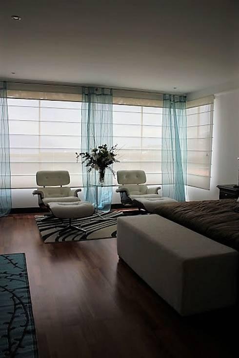 APARTAMENTO LA CALERA : Dormitorios de estilo  por Espacios Positivos
