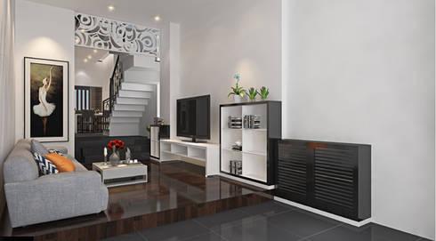 Thiết kế nội thất phòng khách:  Phòng khách by Công ty TNHH Xây Dựng TM – DV Song Phát