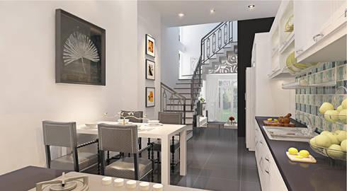 Thiết kế nội thất phòng bếp:  Phòng ăn by Công ty TNHH Xây Dựng TM – DV Song Phát